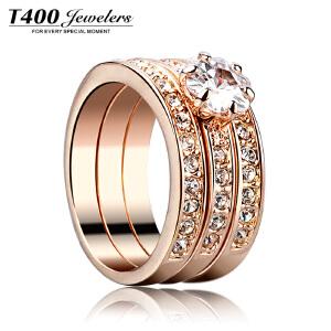 T400水晶戒指女韩版潮尾戒子 单身食指环 生日礼物 爱的承诺  4106