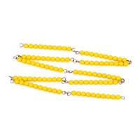 早教玩具蒙台梭利数学教育100串珠链串珠 教材