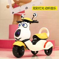 新款儿童电动摩托车三轮车男女宝宝可坐人小孩玩具车大号电瓶童车