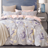 儿童四件套纯棉全棉女孩卡通被套1.2米1.5m床单人三件套床上用品4