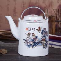 景德镇复古陶瓷茶壶大茶壶大号凉水壶大容量提梁壶单壶陶瓷老茶壶