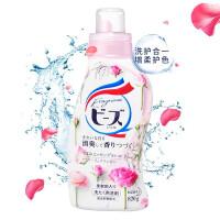 花王(KAO)馨香洗衣液 (��雅玫瑰香)日本原�b�M口 820g(新老包�b交替 �S�C�l�)