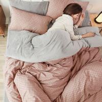 四件套床上用品纯棉全棉冬季牛奶珊瑚绒宿舍三件套网红款床单被套 1.8m床 床笠款【适合200*230被子】含被芯