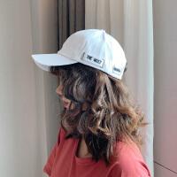 时尚街头简约字母刺绣可调节弯檐棒球帽出游户外遮阳休闲鸭舌帽女