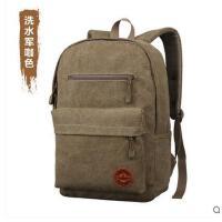 帆布包休闲包 电脑包 男士双肩包 男 中学生书包 背包潮男包包
