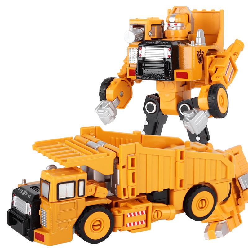 合金变形金刚机器人模型儿童玩具礼盒套装工程车斗车男孩玩具车 合金变形下单立减