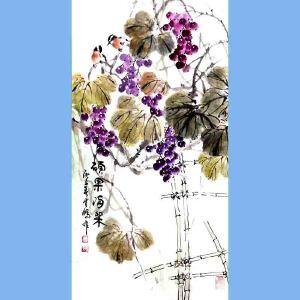 中国青年美术家协会常务理事,国家一级美术师,中国山水画院专业画家,山东省美协会员高云鹏(硕果满架)