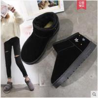 冬季新款韩版保暖雪地靴短靴女靴防滑休闲平底加绒短筒女鞋潮