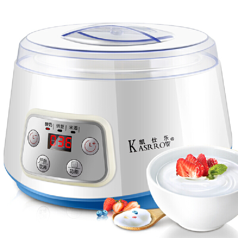 KASRROW/凯仕乐 KSR-JM689自动玻璃内胆酸奶机 米酒机 纳豆机 白色时尚