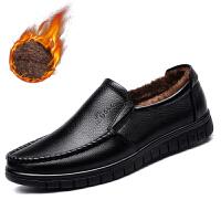 宜驰 EGCHI 商务休闲男士套脚皮鞋中老年爸爸男鞋子男 36274