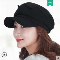 新款春秋女士帽子街头时尚潮款鸭舌帽子韩版日系贝雷帽报童帽