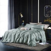 60支天丝四件套冰丝裸睡双面夏季丝滑欧式床单被套床上用品