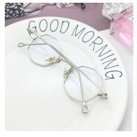 20180824019662018新款复古多边形八角眼镜女韩版潮平光镜男个性小框配近视眼镜架