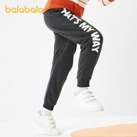 【2件4折价:78.4】巴拉巴拉童装儿童裤子男童中大童印花运动裤休闲百搭