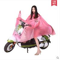 电瓶车加大透明单人雨衣雨披 大帽檐成人男女电动车摩托车