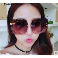 时尚酷炫大框装饰太阳眼镜 亮粉框男女眼镜潮 个性多变墨镜太阳镜