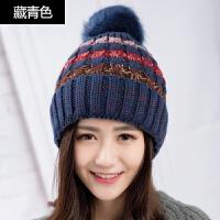 帽子女冬天时尚毛线帽休闲百搭秋冬青年女士韩版针织帽保暖帽子