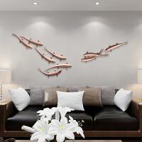 墙壁装饰挂件鱼轻奢客厅背景墙创意墙饰壁挂餐厅墙上挂饰装修饰品 富贵有鱼 红色9条