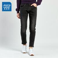 [满减参考价:59.4元,狂欢返场/仅限12.13-16]真维斯男装 冬装新款 修身牛仔长裤