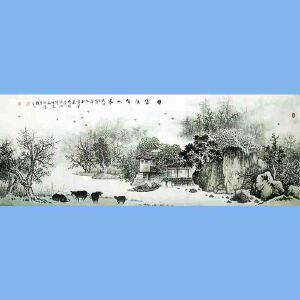 中国美术协会会员,广西省美术家协会理事,国家一级美术师蒋清(白云深处有人家)