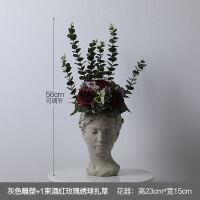 北欧创意人像花器维纳斯女神雕像水泥花盆复古艺术插花装饰摆件 中