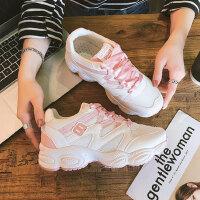 新款女士透气跑步鞋 网面运动鞋女 户外休闲网鞋韩版小白鞋女鞋