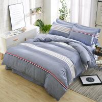 棉磨毛四件套秋冬家纺双人加大床上用品单人宿舍床单被罩三件套