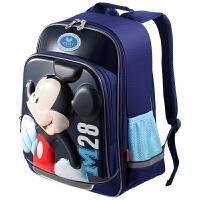 Disney迪士尼 BM0383C小学生书包男孩儿童双肩包4-6年级米奇背包 蓝色当当自营