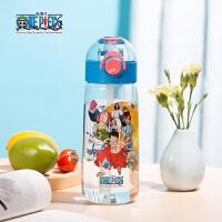Bianli倍乐儿童吸管杯防漏耐撞大容量户外儿童水杯水壶(含背带)450ML 051307