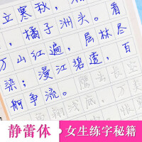 徐静蕾字帖凹槽成人行楷速成女生静蕾体字体大学生行书钢笔练字帖
