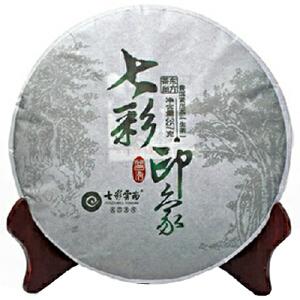 七彩云南普洱茶七彩印象生饼357g