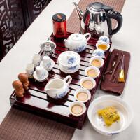 紫砂功夫茶具套�b家用整套��s��木茶�P茶�夭璞�陶瓷冰裂 多款式�x��