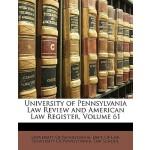 【预订】University of Pennsylvania Law Review and American Law