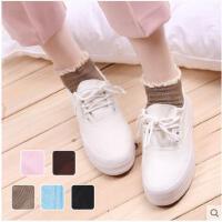蕾丝花边棉船袜日系低帮可爱短袜子女韩国学院风短筒浅口袜