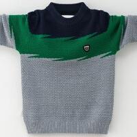 儿童毛衣套头男童针织衫秋新款中大童男孩羊绒衫圆领童装7-12岁
