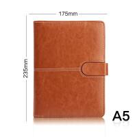 bowen博文多功能25K商务活页夹磁扣笔记本6孔可替换内芯办公会议PU皮面记事本带卡槽带