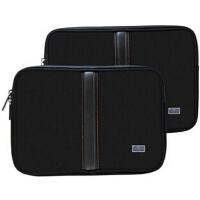 法国罗地亚Rhodia 黑色绒布 笔记本电脑包 适合苹果 air pro