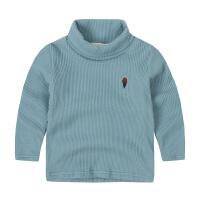 秋款中小男童针织衫毛衣打底衫儿童装宝宝女孩加绒套头长袖T恤