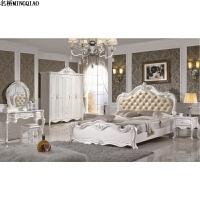 新款卧室成套欧式家具套装组合结婚整套实木套房全套衣柜床六件套