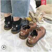 冬季新款chic英伦风复古加绒小皮鞋女鞋学生韩版百搭单鞋冬潮