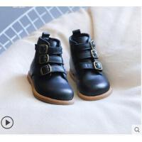 小皮靴女童靴子加绒加厚小童公主棉靴儿童马丁靴女英伦风宝宝