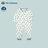 迷你巴拉巴拉新生婴儿连体衣2021春款男女宝宝柔软面料哈衣爬服