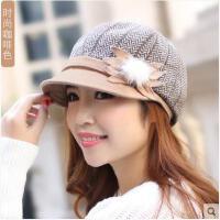 女秋季时尚潮秋冬盆帽贝雷帽优雅时装帽八角帽鸭舌帽渔夫帽
