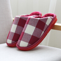 20190815053816414冬季棉拖鞋包跟男女室内家居家可爱防滑厚底保暖冬天拖鞋