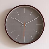 艺术挂钟客厅个性创意时尚钟表北欧木质挂钟客厅现代简约创意钟表静音卧室时钟时尚个性挂表家用 14英寸