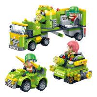 新品邦宝益智拼装小颗粒积木儿童玩具正版炮炮兵营救行动6225