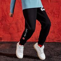 【专区任选3件149元】儿男童加绒长裤儿童裤子运动裤2020新款秋冬装保暖加厚黑色