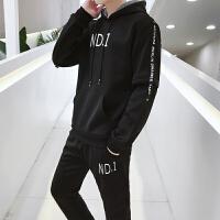 2019新款卫衣男春秋款韩版潮流连帽两件套休闲冬季套头运动套装TZ1835.
