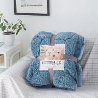 ins冬季双层羊羔绒毛毯被子法兰绒小毯子加厚保暖午睡毯珊瑚绒