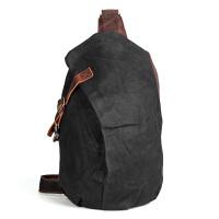 新款复古男士胸包防水油蜡帆布包休闲大容量单肩包潮男包个性胸前背包男朋友礼物